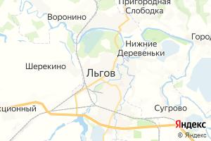 Карта г. Льгов Курская область