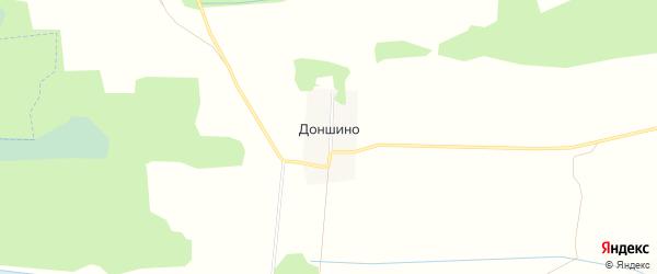 Карта деревни Доншино в Тверской области с улицами и номерами домов