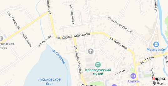 Переулок К.Маркса в Судже с номерами домов на карте. Спутник и схема онлайн