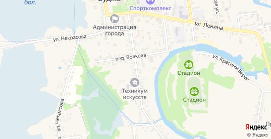 Улица Волкова в Судже с номерами домов на карте. Спутник и схема онлайн