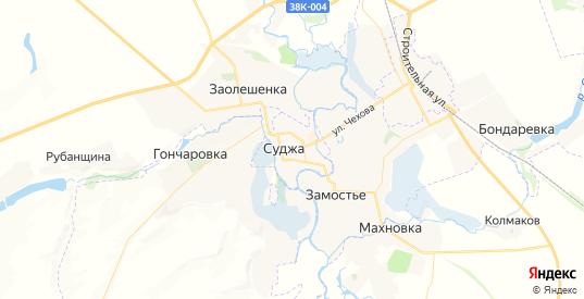 Карта Суджи с улицами и домами подробная. Показать со спутника номера домов онлайн