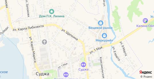 Переулок 1 Мая в Судже с номерами домов на карте. Спутник и схема онлайн