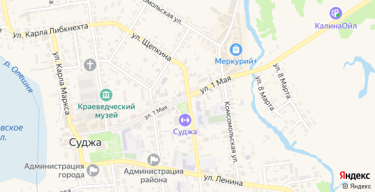 1 Мая улица в Судже с номерами домов на карте. Спутник и схема онлайн