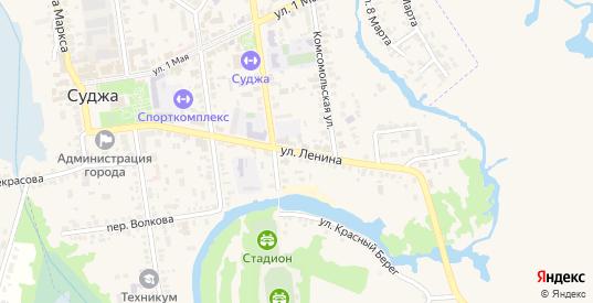Улица Ленина в Судже с номерами домов на карте. Спутник и схема онлайн