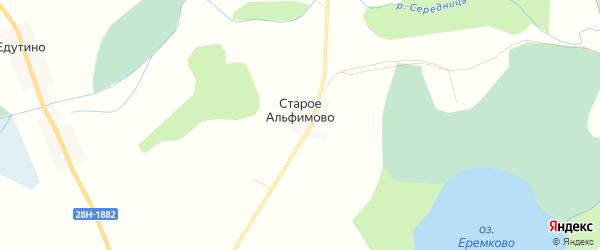 Карта деревни Старо-Альфимово города Удомли в Тверской области с улицами и номерами домов