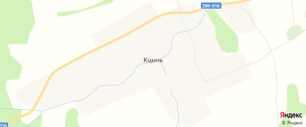 Карта села Кцынь в Калужской области с улицами и номерами домов