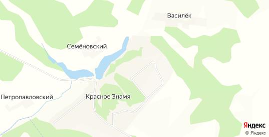 Карта поселка Красное Знамя в Орловской области с улицами, домами и почтовыми отделениями со спутника онлайн