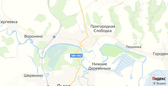 Карта Льгова с улицами и домами подробная. Показать со спутника номера домов онлайн