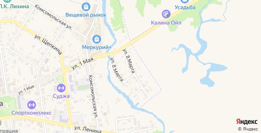 Улица 8 Марта в Судже с номерами домов на карте. Спутник и схема онлайн