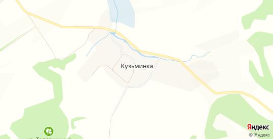Карта деревни Кузьминка в Орловской области с улицами, домами и почтовыми отделениями со спутника онлайн