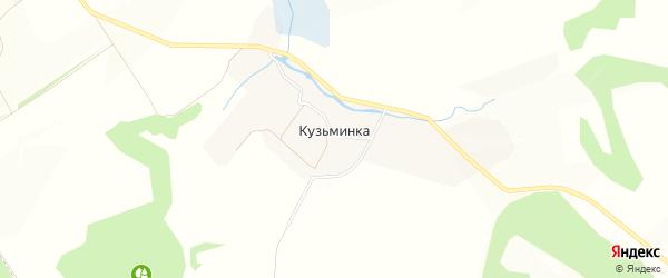 Карта деревни Кузьминки в Орловской области с улицами и номерами домов