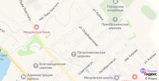 Первомайская улица в Мещовске с номерами домов на карте. Спутник и схема онлайн