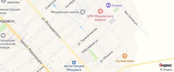Улица Тараканчикова на карте Мещовска с номерами домов