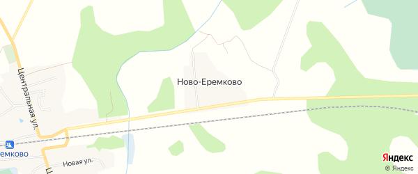 Карта деревни Ново-Еремково города Удомли в Тверской области с улицами и номерами домов