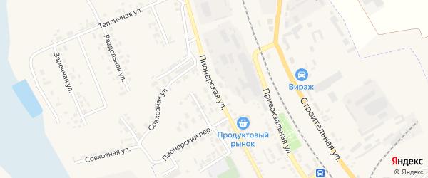 Пионерская улица на карте Суджи с номерами домов