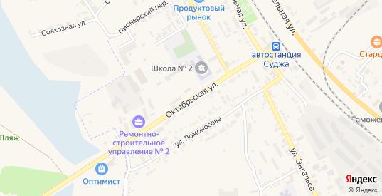 Октябрьская улица в Судже с номерами домов на карте. Спутник и схема онлайн