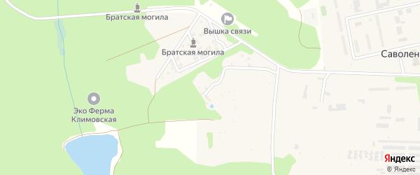 Улица Есенина на карте села Саволенки Калужской области с номерами домов
