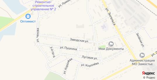 Заводская улица в Судже с номерами домов на карте. Спутник и схема онлайн