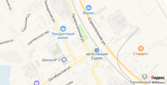 Привокзальная улица в Судже с номерами домов на карте. Спутник и схема онлайн