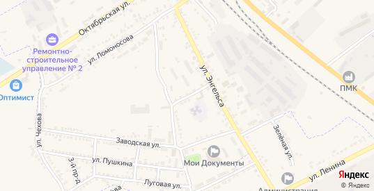 Заводской переулок в Судже с номерами домов на карте. Спутник и схема онлайн