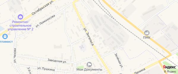 Улица Энгельса на карте Суджи с номерами домов