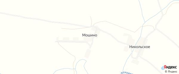 Карта деревни Мошино в Тверской области с улицами и номерами домов