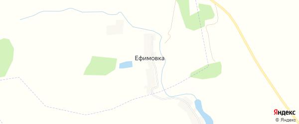 Карта деревни Ефимовки в Орловской области с улицами и номерами домов
