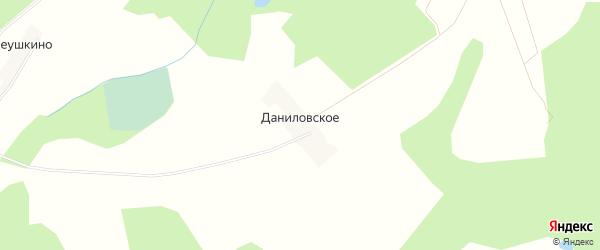 Карта деревни Даниловского в Тверской области с улицами и номерами домов
