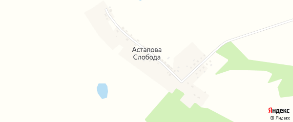 Улица Генерала Попкова на карте деревни Астапова-слободы Калужской области с номерами домов