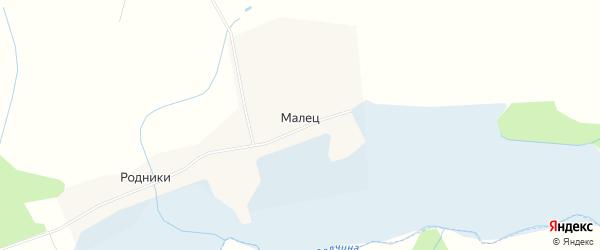 Карта деревни Мальца города Удомли в Тверской области с улицами и номерами домов