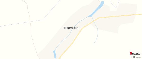 Карта деревни Мармыжи в Курской области с улицами и номерами домов