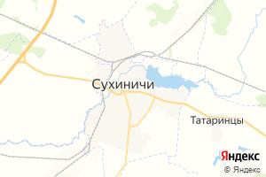 Карта г. Сухиничи Калужская область