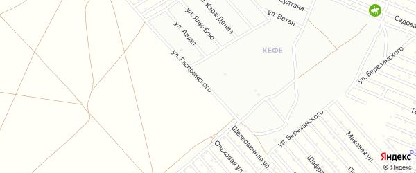 Улица Гаспринского на карте микрорайона Кефе с номерами домов