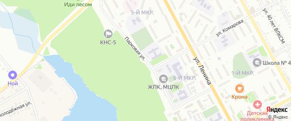 Парковая улица на карте Железногорска с номерами домов