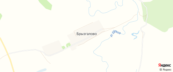 Карта деревни Брызгалово в Тверской области с улицами и номерами домов