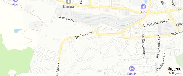 Овражная улица на карте поселка Щебетовки с номерами домов