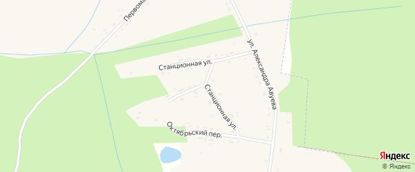 Станционная улица на карте села Дудоровского Калужской области с номерами домов