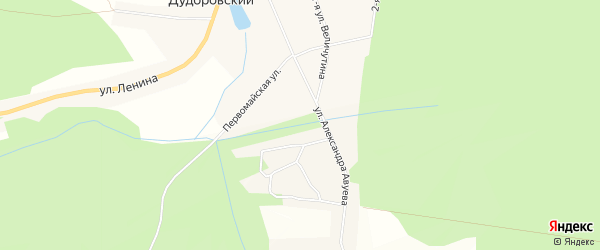 Карта села Дудоровского в Калужской области с улицами и номерами домов
