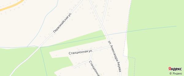 Первомайская улица на карте села Дудоровского Калужской области с номерами домов