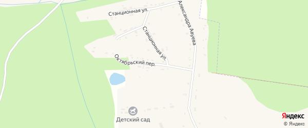 Октябрьский переулок на карте села Дудоровского Калужской области с номерами домов