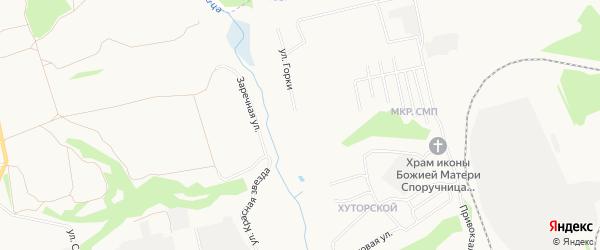 Карта садового некоммерческого товарищества Родничка города Железногорска в Курской области с улицами и номерами домов
