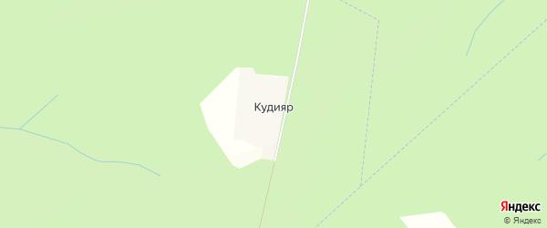 Карта деревни Кудияр в Калужской области с улицами и номерами домов