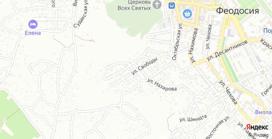 Улица Свободы в Феодосии с номерами домов на карте. Спутник и схема онлайн