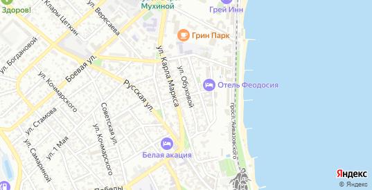 Улица Пушкина в Феодосии с номерами домов на карте. Спутник и схема онлайн