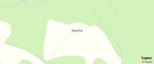 Карта деревни Калиты в Тверской области с улицами и номерами домов