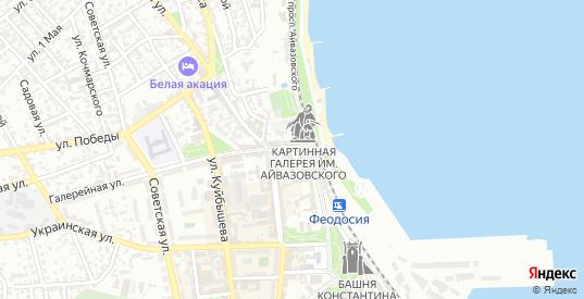 Боспорская улица в Феодосии с номерами домов на карте. Спутник и схема онлайн