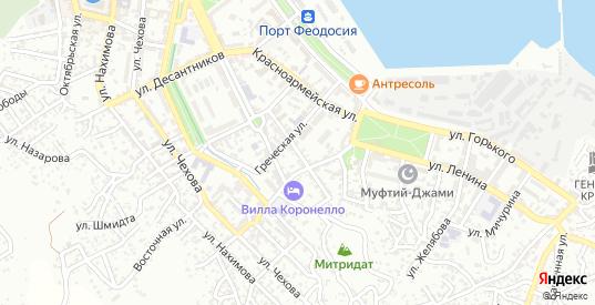 Улица 8 Марта в Феодосии с номерами домов на карте. Спутник и схема онлайн