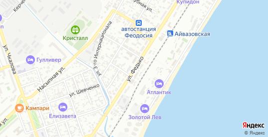 Улица Федько в Феодосии с номерами домов на карте. Спутник и схема онлайн
