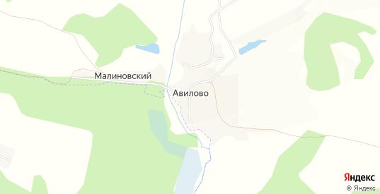 Карта деревни Авилово в Орловской области с улицами, домами и почтовыми отделениями со спутника онлайн