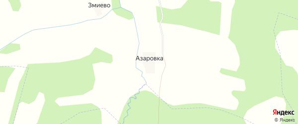 Карта деревни Азаровка в Калужской области с улицами и номерами домов